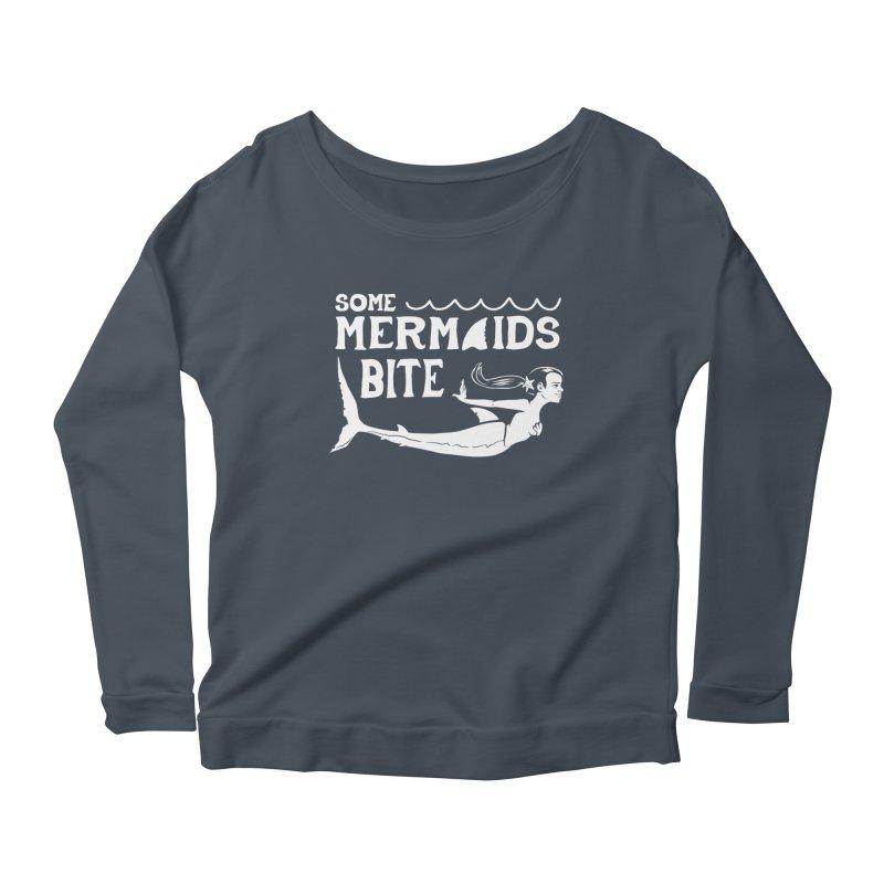 Some Mermaids Bite Women's Scoop Neck Longsleeve T-Shirt by Jake Giddens' Shop