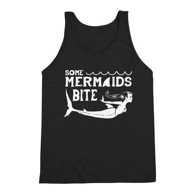 Some Mermaids Bite Men's Triblend Tank by Jake Giddens' Shop