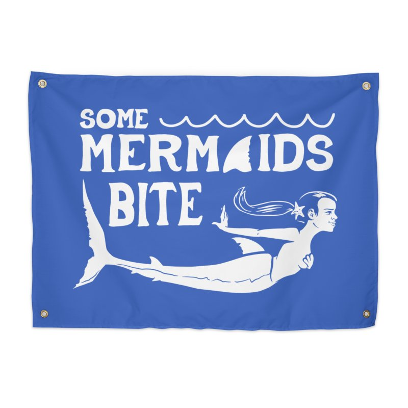 Some Mermaids Bite Home Tapestry by Jake Giddens' Shop