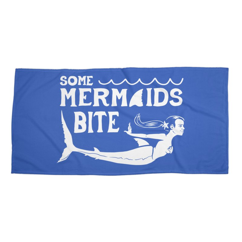 Some Mermaids Bite Accessories Beach Towel by Jake Giddens' Shop