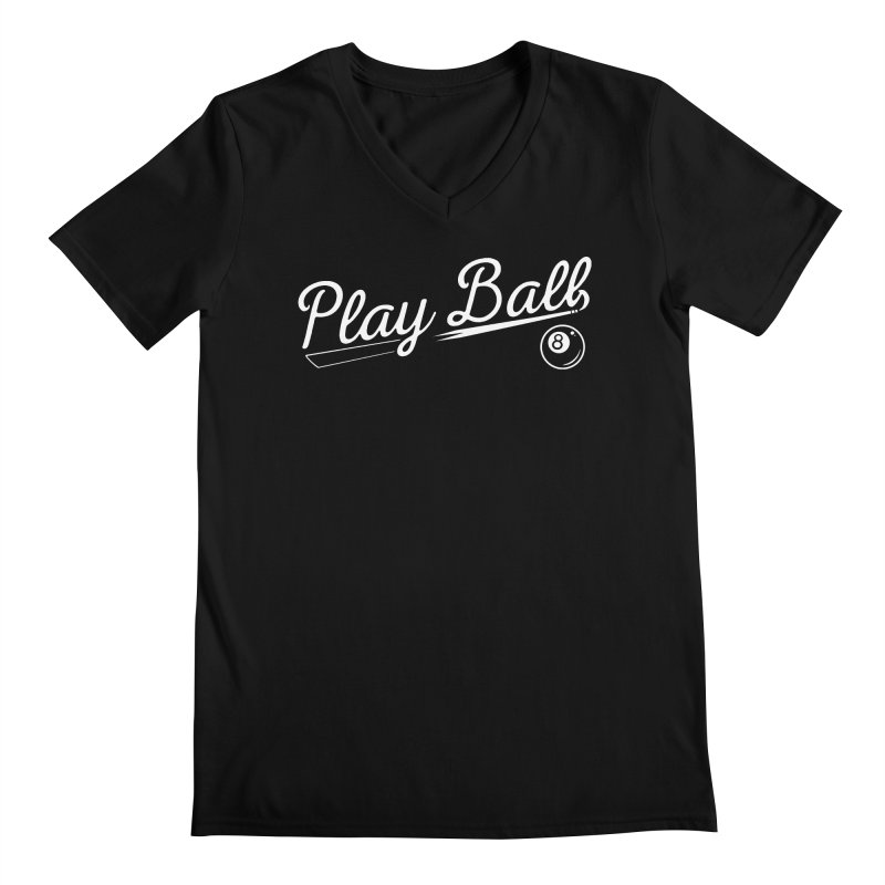 Play (8) Ball Men's Regular V-Neck by Jake Giddens' Shop