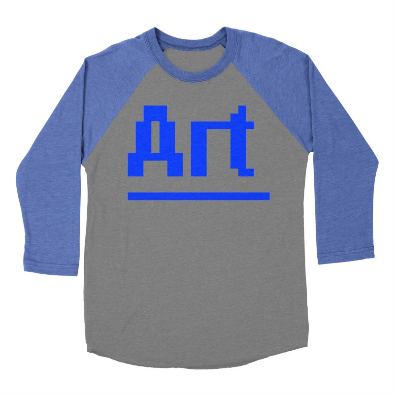 Art Men's Baseball Triblend Longsleeve T-Shirt by Make with Jake Nickell, The Coolest Dude on Earth!