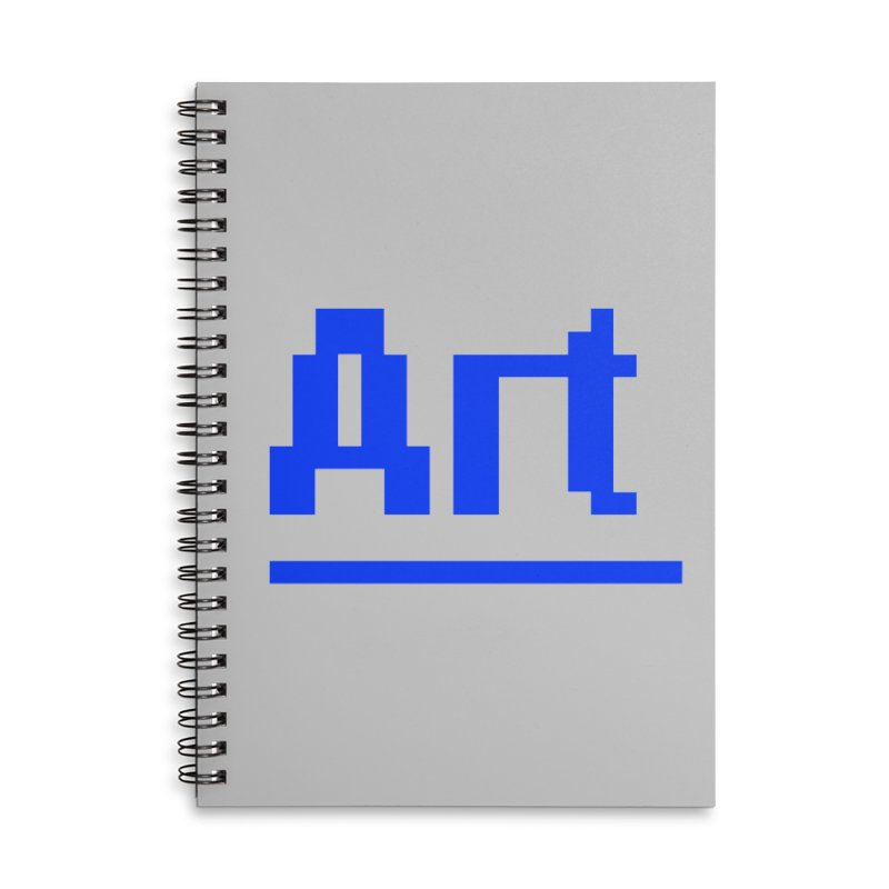 Art Accessories Lined Spiral Notebook by Make with Jake Nickell, The Coolest Dude on Earth!