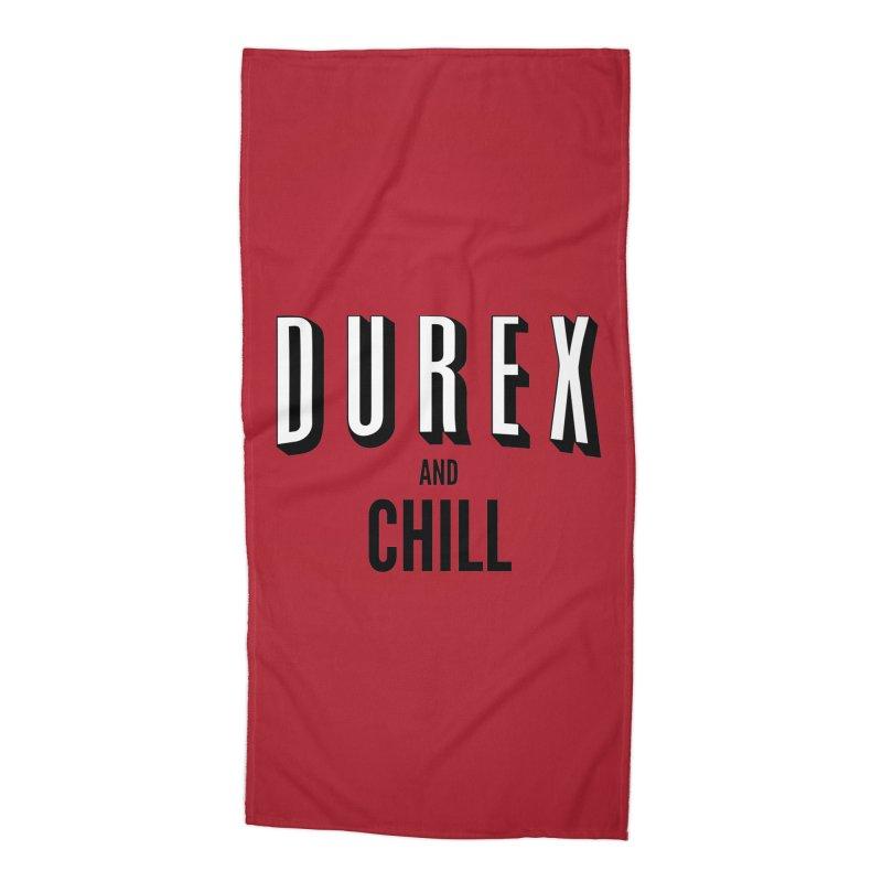 Durex and Chill Accessories Beach Towel by JalbertAMV's Artist Shop