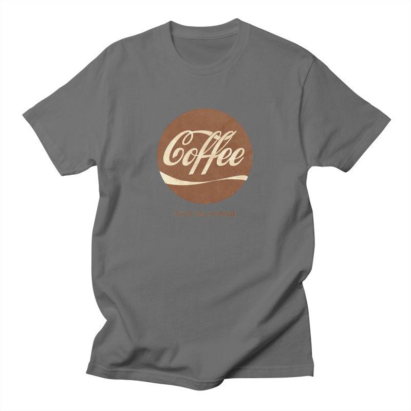 Taste the Caffeine Men's T-Shirt by JalbertAMV's Artist Shop