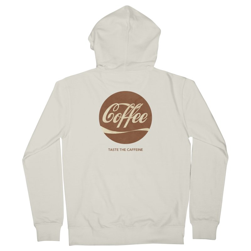 Taste the Caffeine Men's Zip-Up Hoody by JalbertAMV's Artist Shop