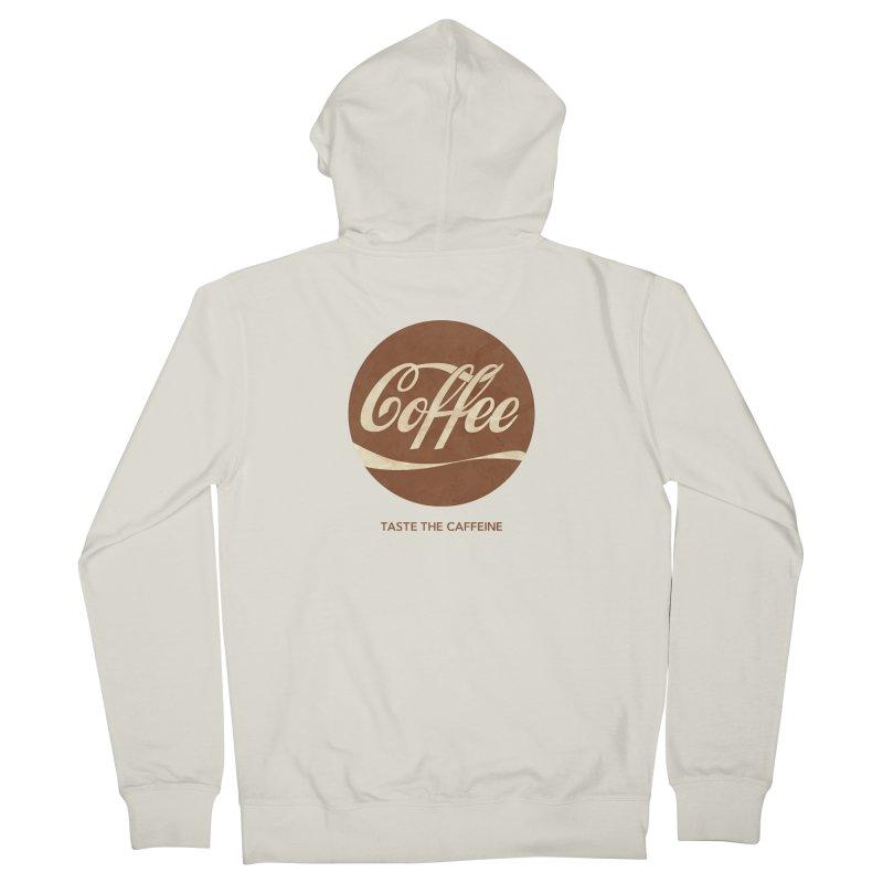 Taste the Caffeine Men's French Terry Zip-Up Hoody by JalbertAMV's Artist Shop
