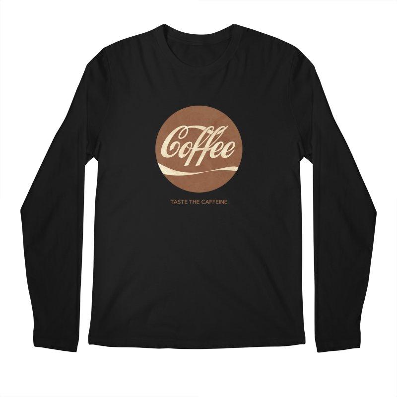 Taste the Caffeine Men's Longsleeve T-Shirt by JalbertAMV's Artist Shop