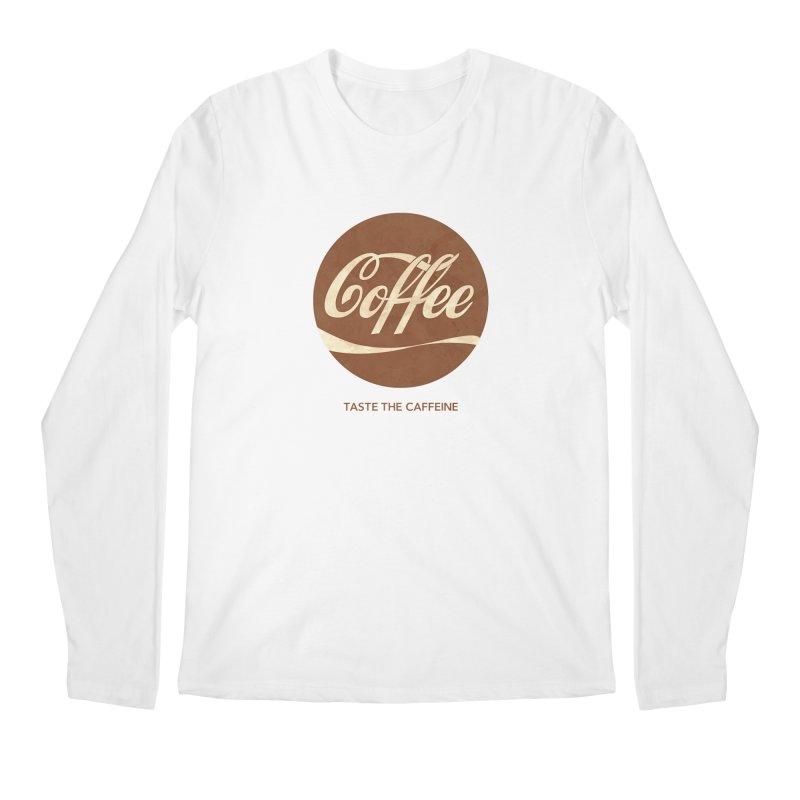 Taste the Caffeine Men's Regular Longsleeve T-Shirt by JalbertAMV's Artist Shop