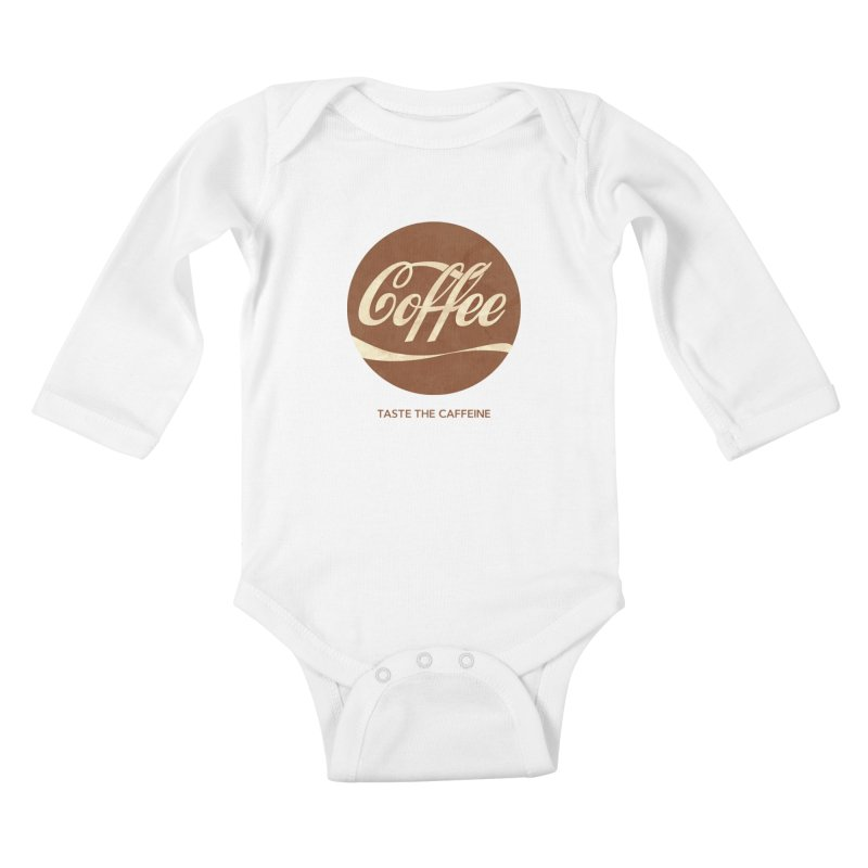 Taste the Caffeine Kids Baby Longsleeve Bodysuit by JalbertAMV's Artist Shop