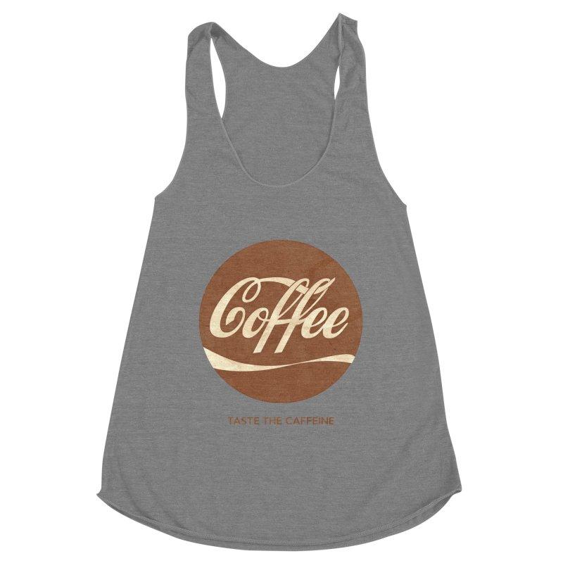 Taste the Caffeine Women's Racerback Triblend Tank by JalbertAMV's Artist Shop