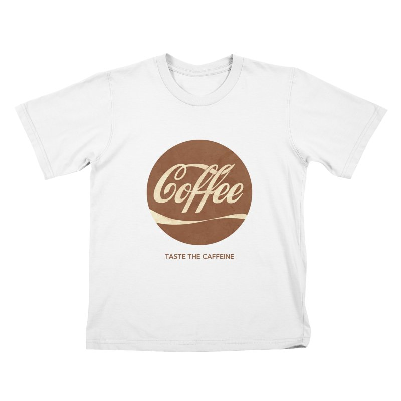 Taste the Caffeine Kids T-Shirt by JalbertAMV's Artist Shop