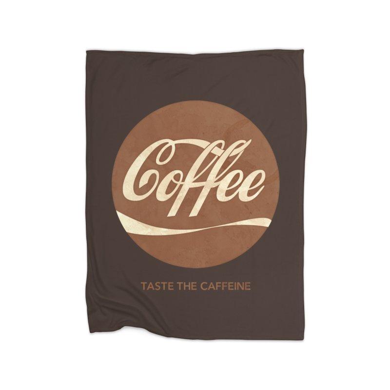 Taste the Caffeine Home Fleece Blanket Blanket by JalbertAMV's Artist Shop