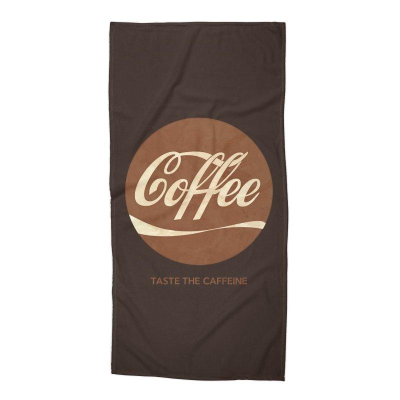 Taste the Caffeine Accessories Beach Towel by JalbertAMV's Artist Shop