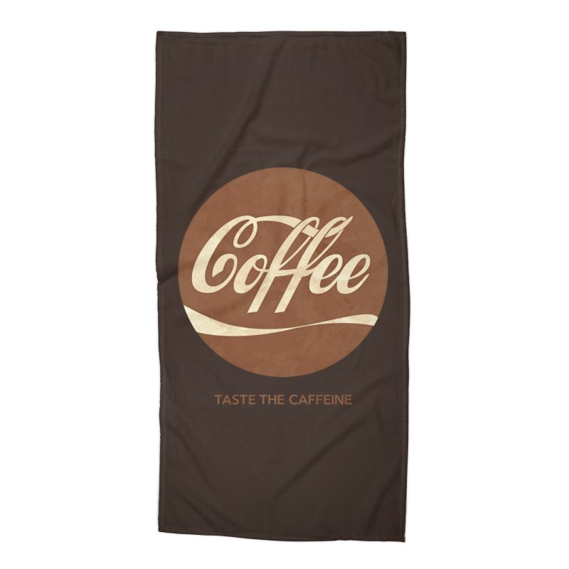 Taste the Caffeine Accessories Beach Towel by JalbertAMV's Artist Shop