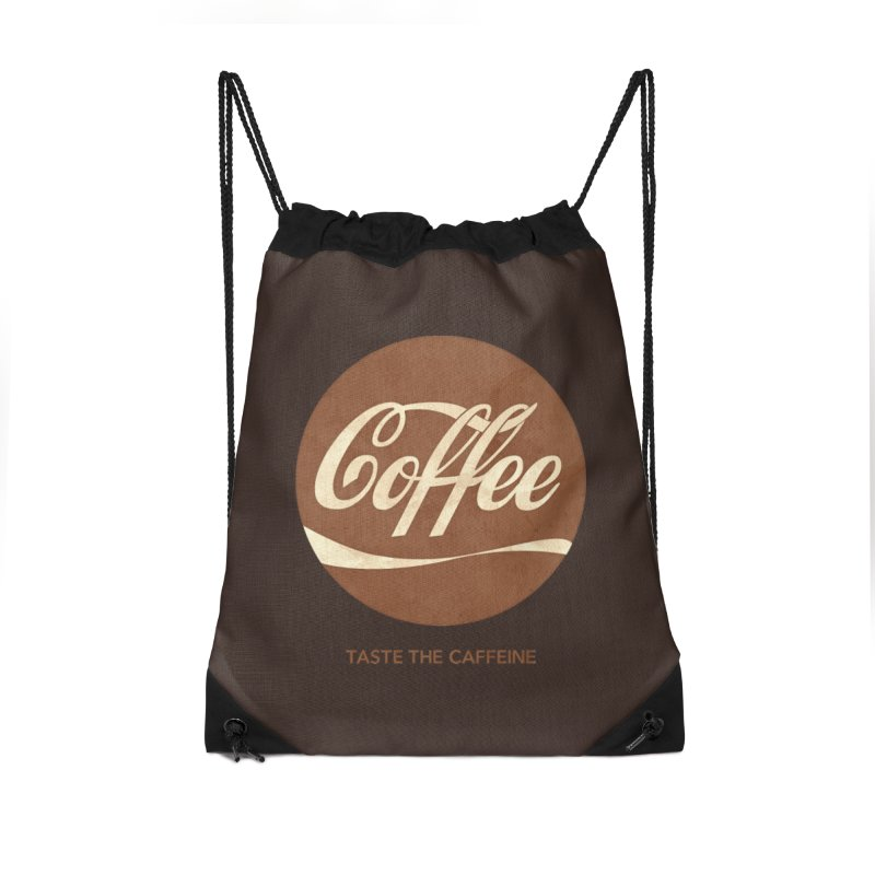 Taste the Caffeine Accessories Drawstring Bag Bag by JalbertAMV's Artist Shop