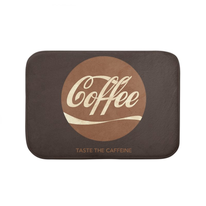 Taste the Caffeine Home Bath Mat by JalbertAMV's Artist Shop