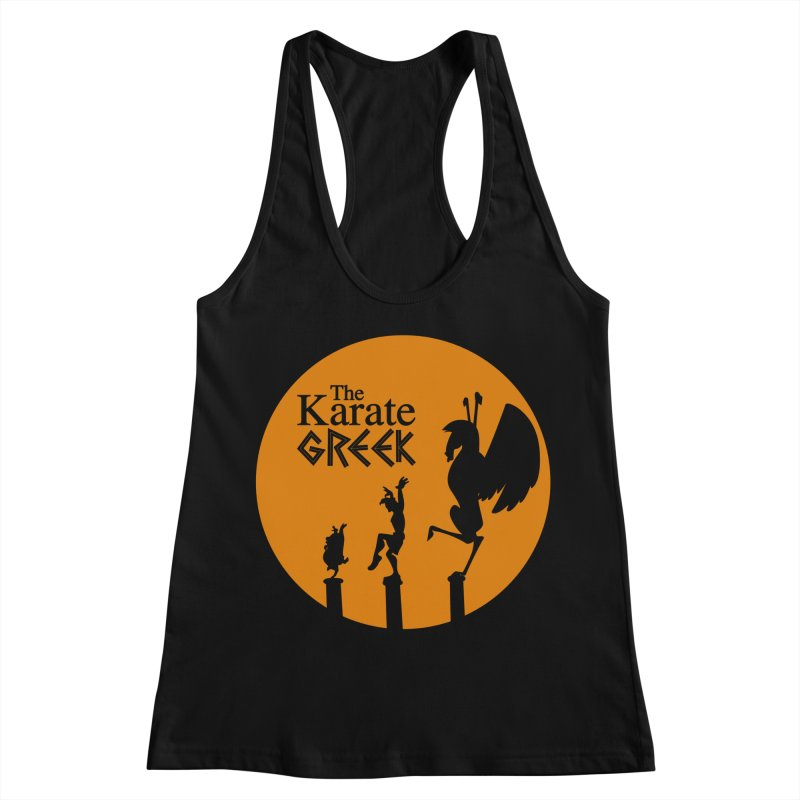 The Karate Greek Women's Racerback Tank by JalbertAMV's Artist Shop
