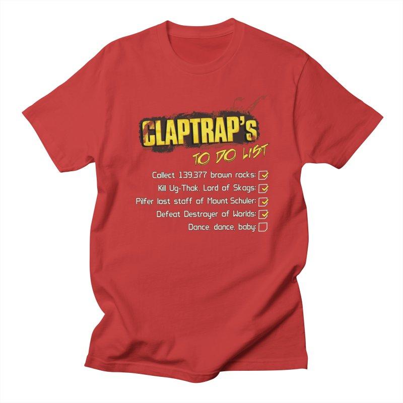 Claptrap's To Do List Men's Regular T-Shirt by JalbertAMV's Artist Shop