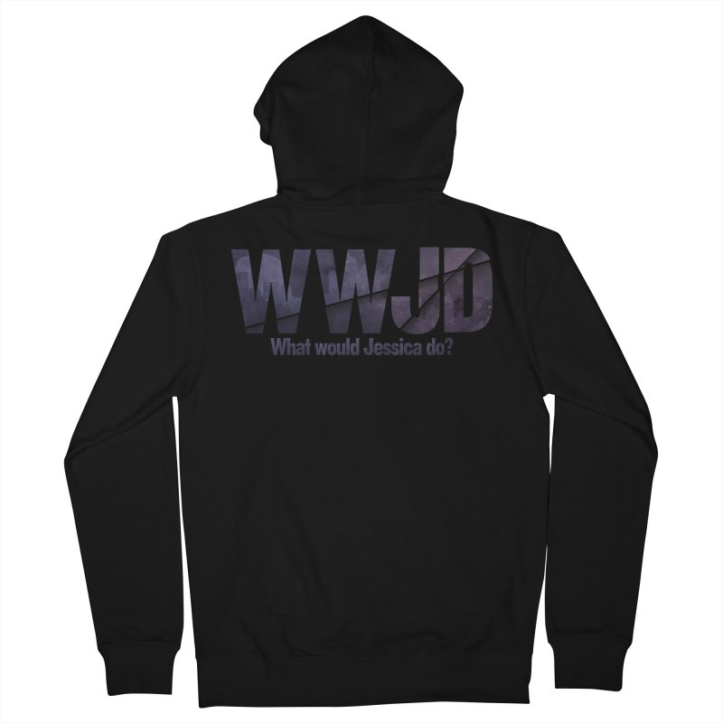 What Would Jessica Do? Men's French Terry Zip-Up Hoody by JalbertAMV's Artist Shop