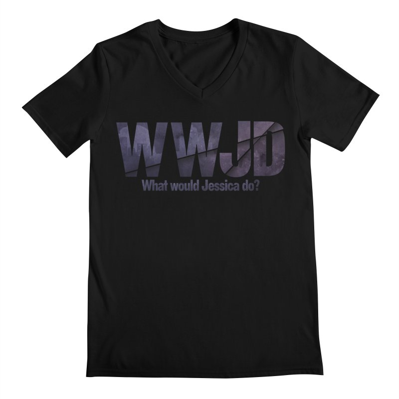 What Would Jessica Do? Men's Regular V-Neck by JalbertAMV's Artist Shop