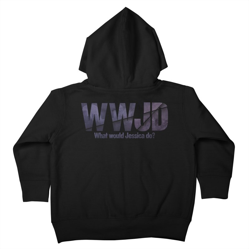 What Would Jessica Do? Kids Toddler Zip-Up Hoody by JalbertAMV's Artist Shop