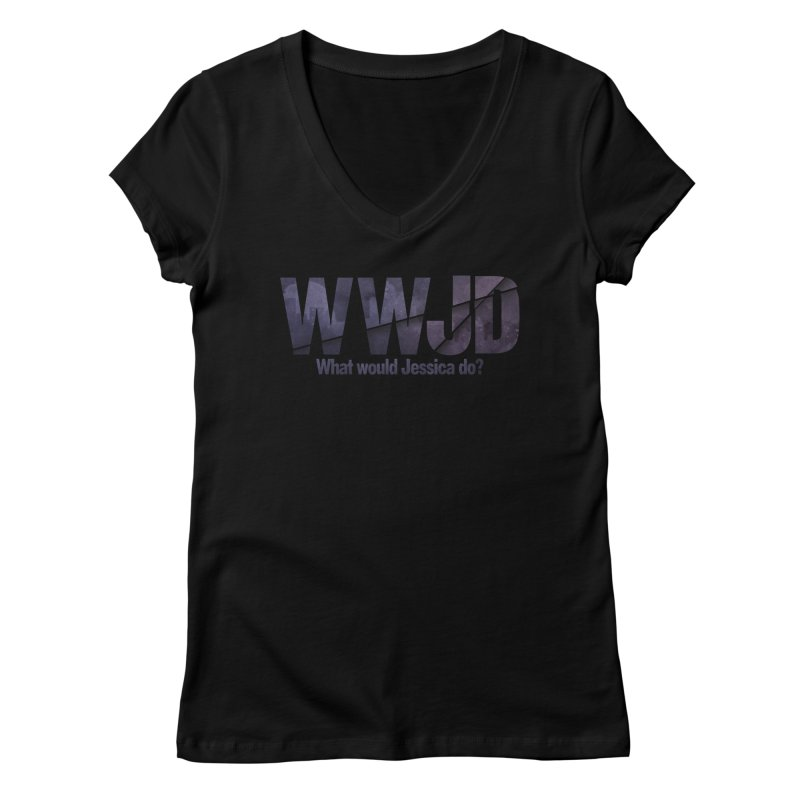 What Would Jessica Do? Women's Regular V-Neck by JalbertAMV's Artist Shop