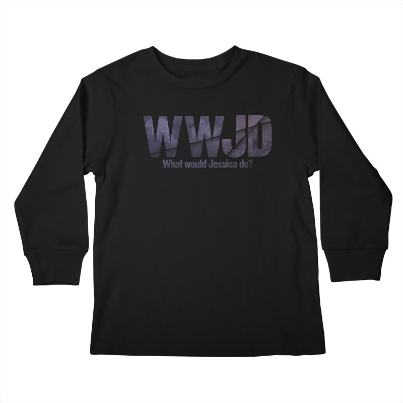 What Would Jessica Do? Kids Longsleeve T-Shirt by JalbertAMV's Artist Shop