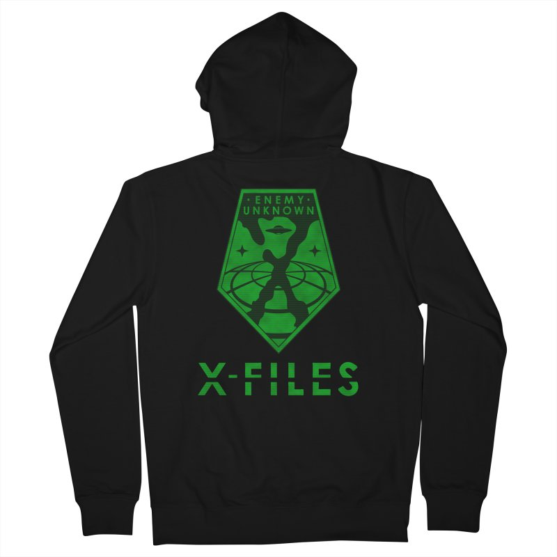 X-FILES: Enemy Unknown Men's French Terry Zip-Up Hoody by JalbertAMV's Artist Shop