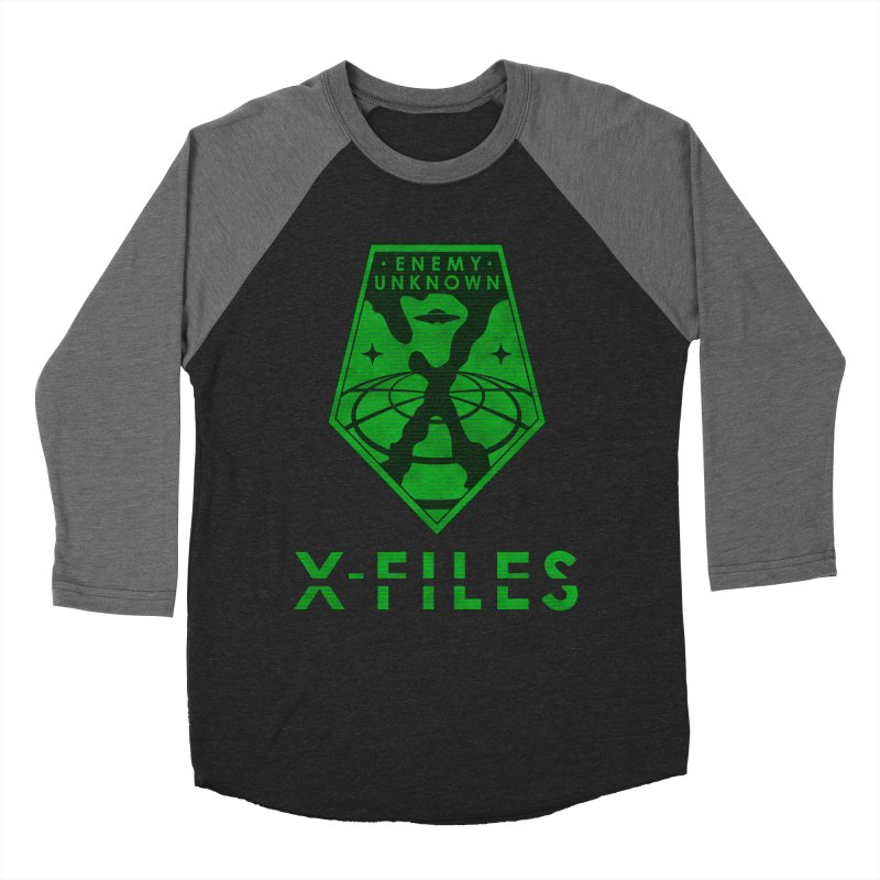 X-FILES: Enemy Unknown Men's Baseball Triblend Longsleeve T-Shirt by JalbertAMV's Artist Shop