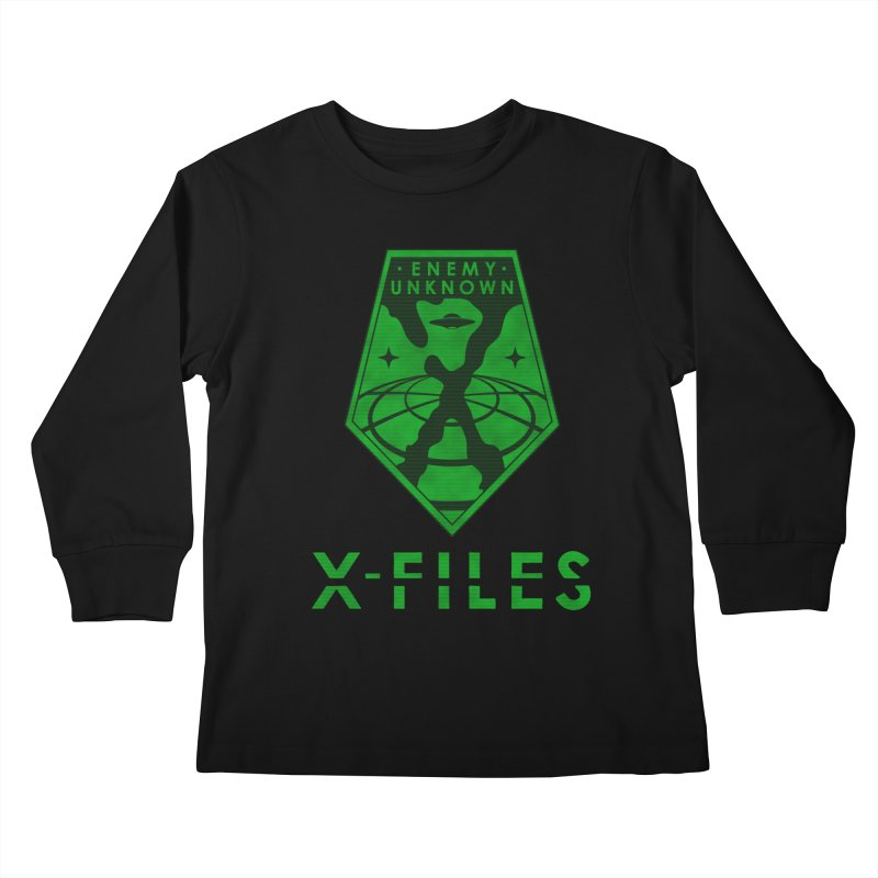 X-FILES: Enemy Unknown Kids Longsleeve T-Shirt by JalbertAMV's Artist Shop