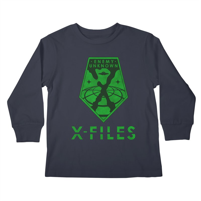 X-FILES: Enemy Unknown Kids Longsleeve T-Shirt by JalbertAMV's Artist Shop