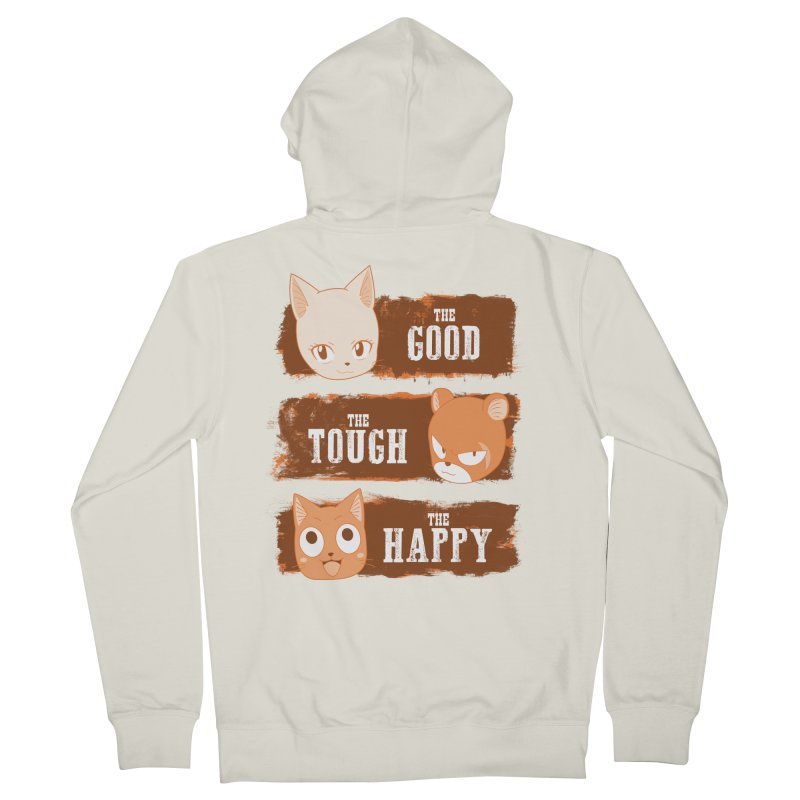 The Good, The Tough and The Happy Men's French Terry Zip-Up Hoody by JalbertAMV's Artist Shop