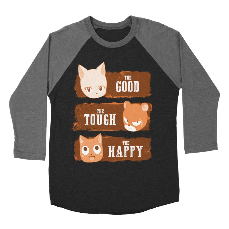 The Good, The Tough and The Happy Men's Baseball Triblend Longsleeve T-Shirt by JalbertAMV's Artist Shop