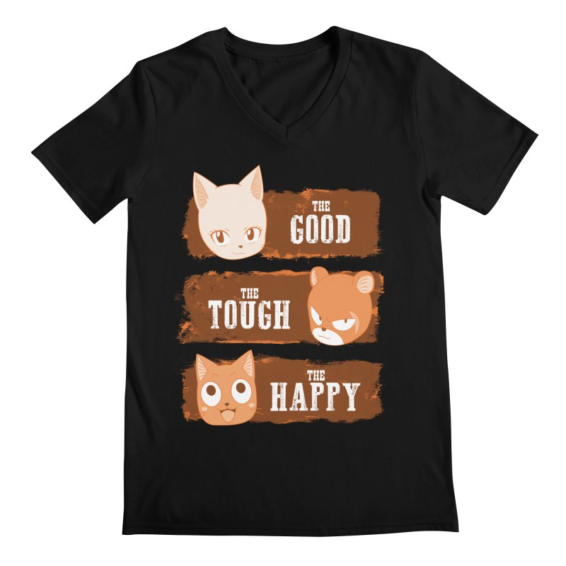 The Good, The Tough and The Happy Men's Regular V-Neck by JalbertAMV's Artist Shop