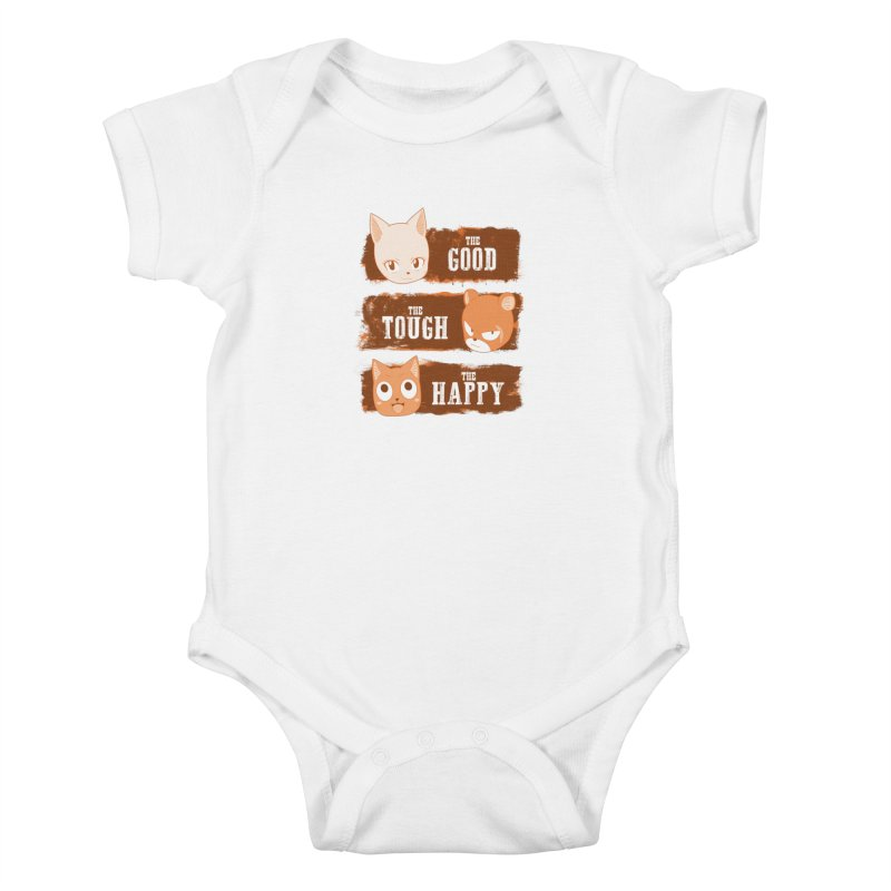 The Good, The Tough and The Happy Kids Baby Bodysuit by JalbertAMV's Artist Shop