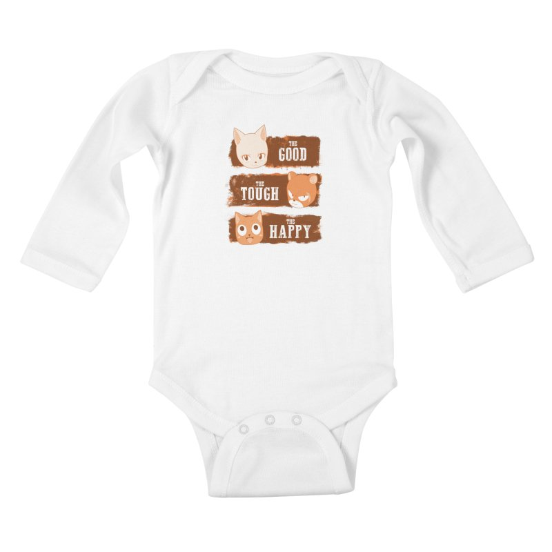 The Good, The Tough and The Happy Kids Baby Longsleeve Bodysuit by JalbertAMV's Artist Shop