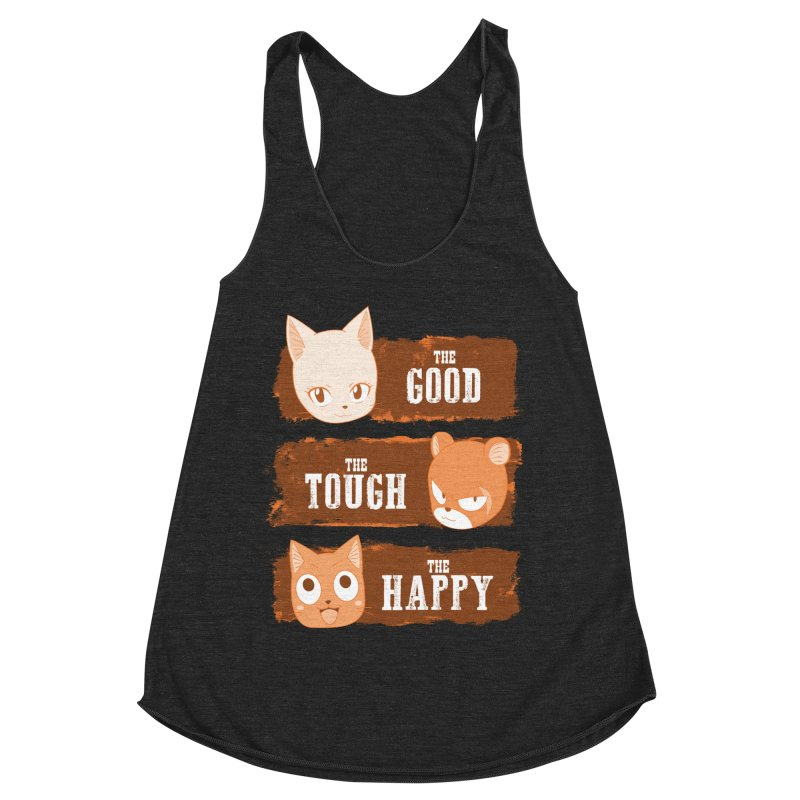 The Good, The Tough and The Happy Women's Racerback Triblend Tank by JalbertAMV's Artist Shop