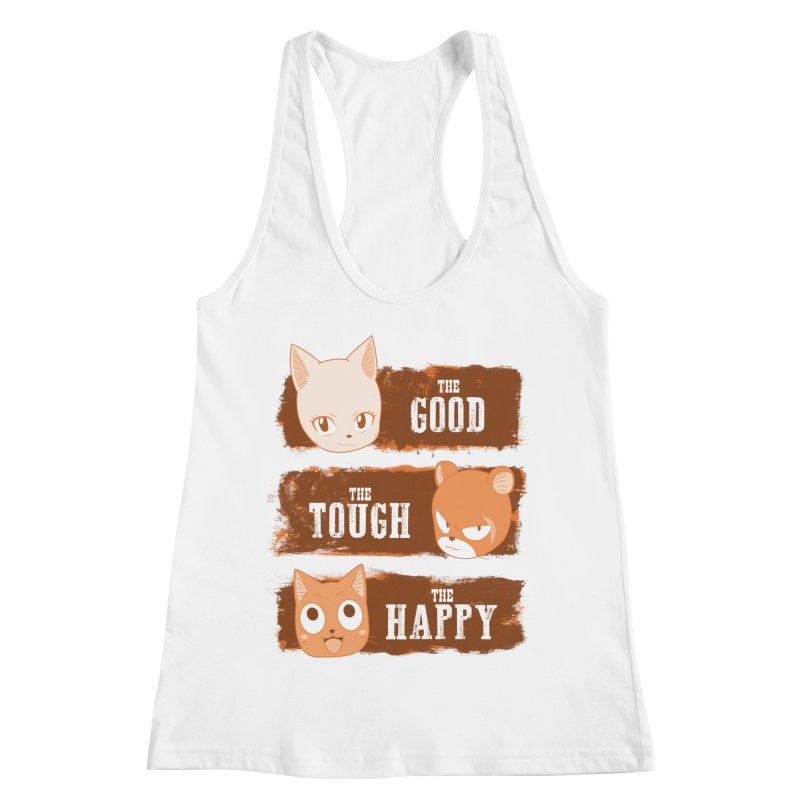 The Good, The Tough and The Happy Women's Racerback Tank by JalbertAMV's Artist Shop