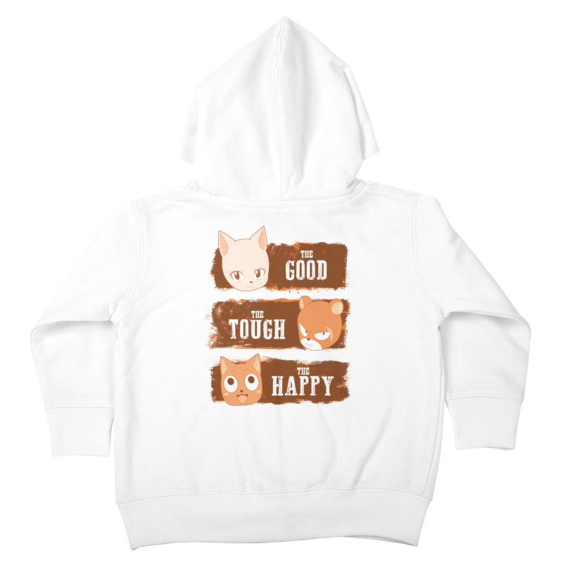 The Good, The Tough and The Happy Kids Toddler Zip-Up Hoody by JalbertAMV's Artist Shop