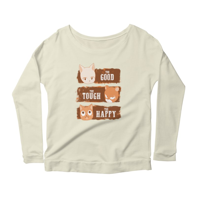 The Good, The Tough and The Happy Women's Longsleeve Scoopneck  by JalbertAMV's Artist Shop