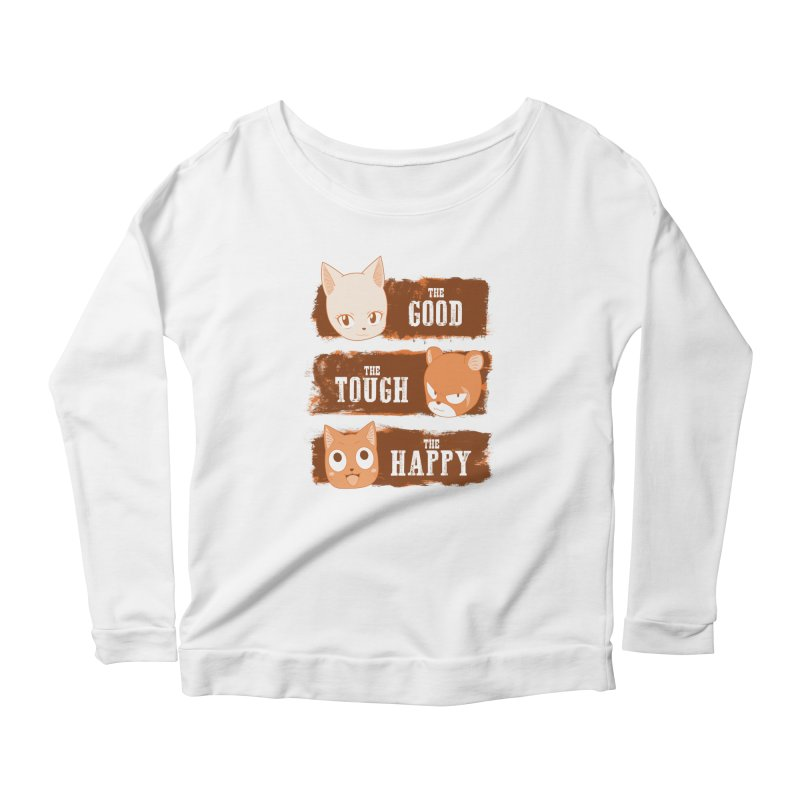 The Good, The Tough and The Happy Women's Scoop Neck Longsleeve T-Shirt by JalbertAMV's Artist Shop