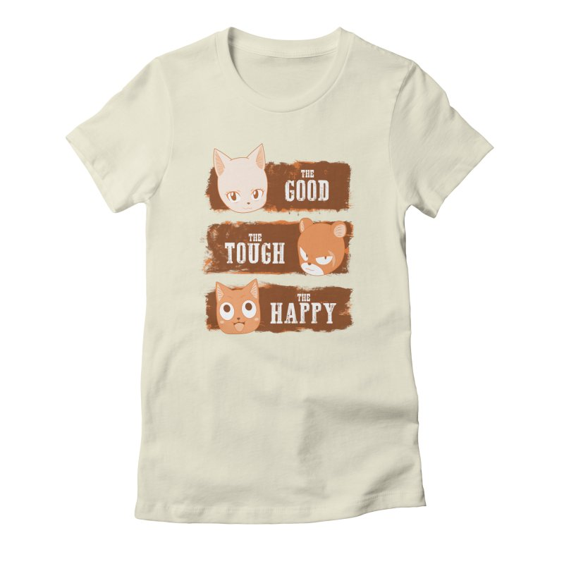 The Good, The Tough and The Happy Women's Fitted T-Shirt by JalbertAMV's Artist Shop