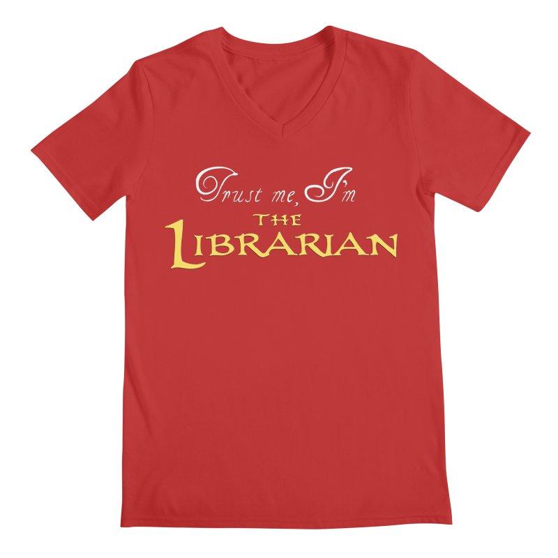 Trust Me, I'm The Librarian Men's V-Neck by JalbertAMV's Artist Shop
