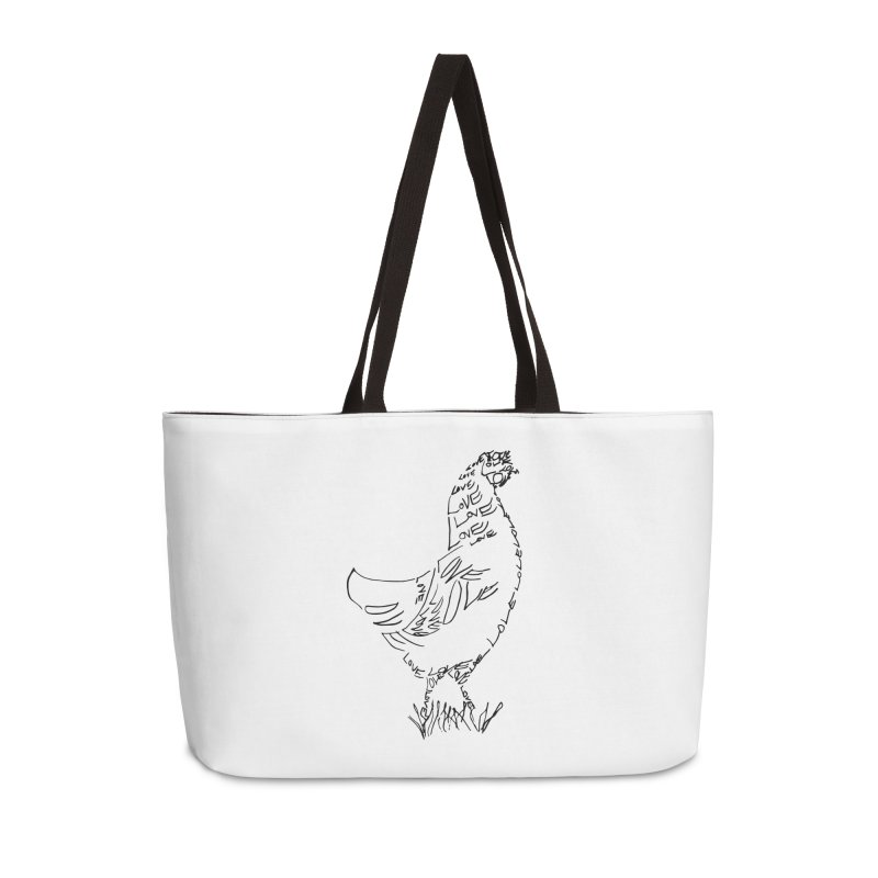 LOVEchicken Accessories Weekender Bag Bag by jAM_Aidan Shop
