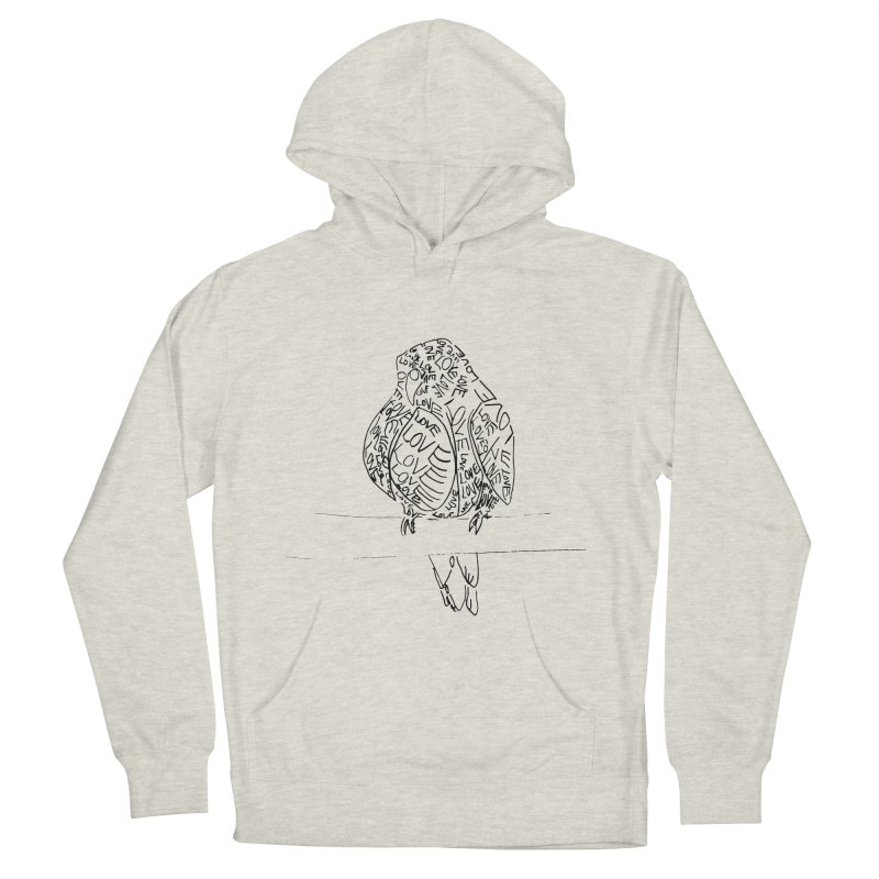 LOVEbird Men's French Terry Pullover Hoody by jAM_Aidan Shop