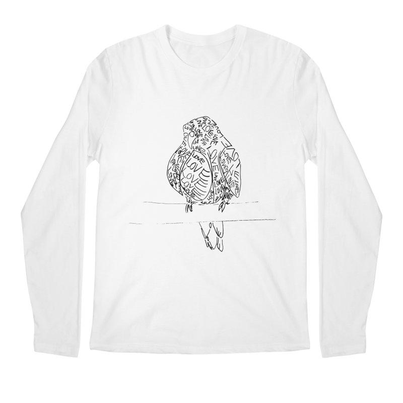 LOVEbird Men's Regular Longsleeve T-Shirt by jAM_Aidan Shop