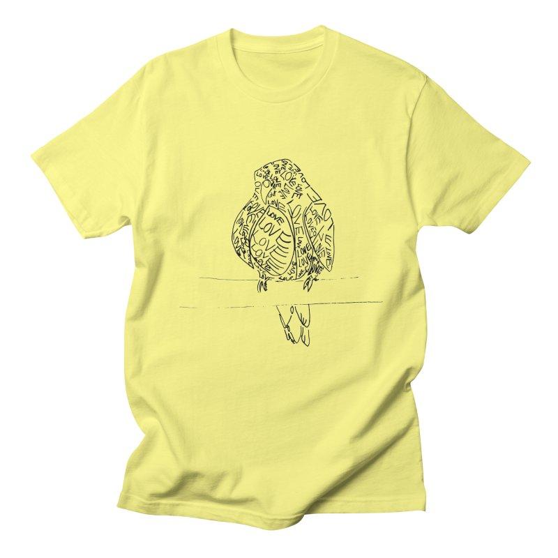 LOVEbird Women's Regular Unisex T-Shirt by jAM_Aidan Shop