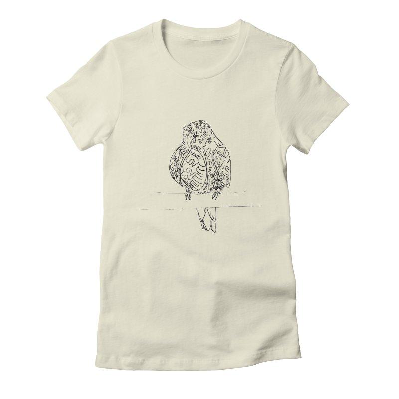 LOVEbird Women's Fitted T-Shirt by jAM_Aidan Shop