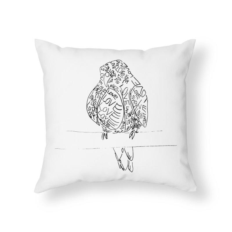 LOVEbird Home Throw Pillow by jAM_Aidan Shop